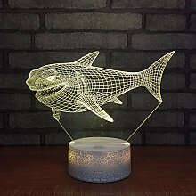 DFDLNL Nette Nachtlicht-Tierluminarias 3D der