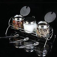 DFFS Spice Glas-Box Küche Liefert Menage Set Glas