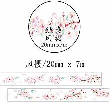 DFG kirschblüten und Papier handzettel, Hand