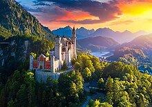 DFGJ Puzzle Luftbild des Schlosses Neuschwanstein