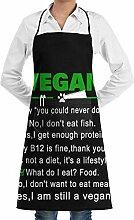 dfhfdsh Schürze Kochschürze Funny Vegan I Am
