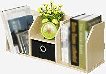 DFHHG® Bücherregal Buchständer 60 (Länge) * 21 (Breite) * 24,5 (hoch) Cm Mit Schubladen Office Desktop Storage Rack dauerhaf