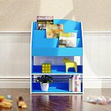 DFHHG® Bücherregal Buchständer 62.4 (lang) * 24 (Breite) * 89 (hoch) Cm Schlafzimmer Bücherregal Wohnzimmer Regal Creative Cut Off Pink Blau dauerhaft ( Farbe : #2 )