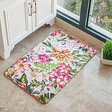 DFHHG® Die Türmatten Hall Door Mats Wohnzimmer Küche Schlafzimmer Lange saugfähige Pad Bad Matratze Gemütlich ( größe : 100*150cm )