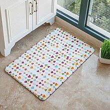 DFHHG® Die Türmatten Hall Door Mats Wohnzimmer Küche Schlafzimmer Lange saugfähige Pad Bad Matratze Gemütlich ( größe : 50*80cm )