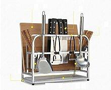 DFHHG® Edelstahl-Küche Regal Landing Ständer