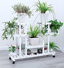 DFHHG® Eisen Blumenrahmen Multilayer Boden Typ Balkon Blumentopf Grün Rettich Regal Einfache Wohnzimmer Hängende Orchideen Amerikanischer Blumenständer ( Farbe : #4 )