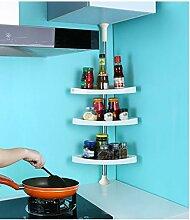DFHHG® Küche Lagerung Rack Ecke Regal Edelstahl