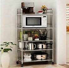 DFHHG® Küche Regal Edelstahl Mikrowellen-Rack