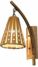 DFHHG® Wandlampe, kreative Ursprüngliche Ökologie Bambuswandlampe Einfaches hohles Bambuslichtrestaurant Im japanischen Stil koreanische Art Bambus-Bambuslicht-Wandlampe E27 Amerikanisches Bett ( Farbe : One pair )