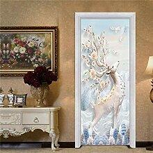 DFKJ 3D Landschaft Bonsai Blumen Tür Aufkleber