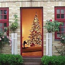 DFKJ Schneemann Weihnachtsbaum Tür Dekoration