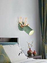 DFSF Wandlampe Schlafzimmer Nacht Leselampe Geweih