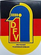 DFV Feuerwehr Aufkleber außenklebend - DFV Logo