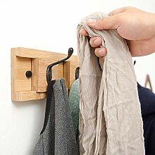 DGDG Bambus Wand-Kleiderständer, Wand
