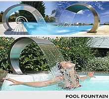 DGDG Pool-Brunnen, rechteckig Wasserfall Pool,