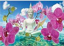 DGSJH Kreuzstich Home Decor Buddha Statue