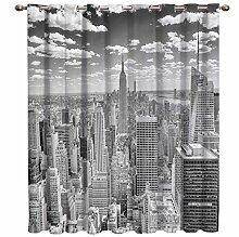 DGTJSEVEN Grau New York City Zimmer Vorhänge