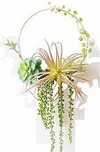DHASJ Künstliche Pflanzen Grün Pflanzenkranz