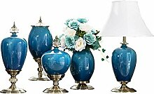 DHASJ Künstliche Pflanzen Vase Dekoration Blau