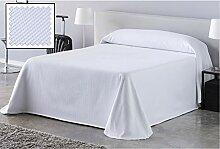 DHestia Hoteleria Bettüberwurf, Weiß 190x270 cm