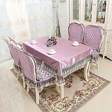 DHG Europäischen Garten Runde Tischdecke Stoff