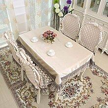 DHG Garten Tischdecke Stoff Spitze Tischdecke