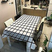 DHHY Polyester Baumwolle Tischdecke Geometrische