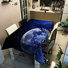 DHHY Polyester Baumwolle Tischdecke Mond