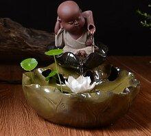 DHJUST Das Wasser Brunnen Dekoration Keramik