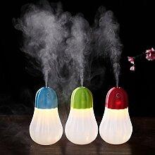 DHJUST Die Zerstäubung Luftbefeuchter USB Mini Nacht Leuchte Luftbefeuchter Touch Schalter Lampe, Blau