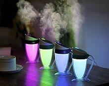 DHJUST Kreative Nacht Licht Luftreiniger USB Mini Luftbefeuchter, 14,5 * 9,5 cm, grün