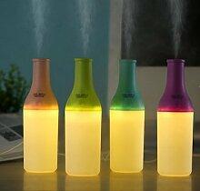 DHJUST Mini Flasche Luftbefeuchter Portable Home Büro Luftreiniger, 20 * 10,5 * 6 cm, Pink