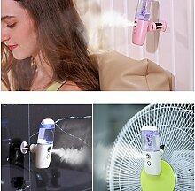 DHJUST Mini Luftbefeuchter Anion Auffüllung Sprüheinrichtung kreative USB-Ladekabel Gesicht, blau
