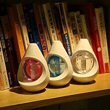 DHJUST Wasser Schönes Büro Geschenke Home Night Light Mini Usb Auto ruhig Kleine Luftbefeuchter, Blau