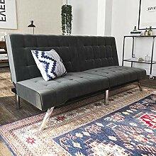 DHP Emily Futon-Sofa mit Chaiseliege, Kunstleder,