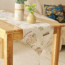 DHSNJKL Tischläufer/aus Baumwolle und Leinen tischläufer/Bett-Läufer-A 30x140cm(12x55inch)