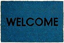 Di-Nesh (321 Welcome Blau) Kokos Fußmatte Stern