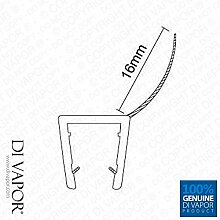 Di Vapor Dusche Tür Dichtung | 4–6mm/8mm/10mm Glas | 16mm Fin | 85cm/200cm