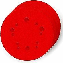 Diablo DCD050060H04G 5 in. 60-Grit Universal Hole Random Orbital Sanding Disc with Hook and Lock Backing (4-Pack) by Freud