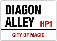 Diagon Alley City Of Magic Blechschild Retro Blech