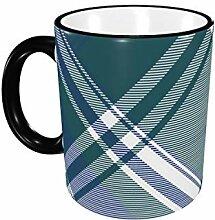 Diagonal Stoff Textur Plaid nahtlose Kaffeetasse