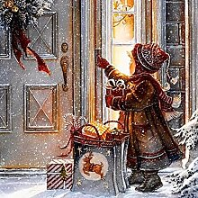 Diamant Gemälde Mädchen Weihnachten Schnee 5D
