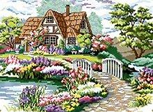 Diamant Malerei 5D Garten Haus DIY Voll Bohren