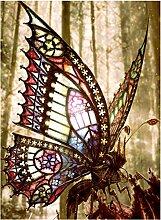 Diamant Malerei Wald Schmetterling Tier Mosaik