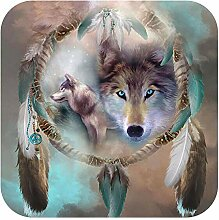 Diamantmalerei Tiger, Ikone Diamantstickerei Wolf