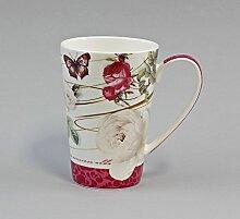 Diamantporzellan Becher/Tasse Rose weiß 0,25 l
