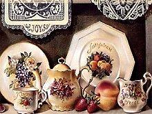 Diamantstickerei Obstdekor für Küchenbild Strass