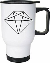 Diamond' Ceramic Mug/Travel Coffee Mug