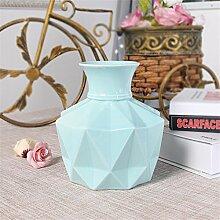 Diamond Runde Vase, blau, C für Mittelstücke Wohnzimmer Weihnachten Geburtstag Hochzeit Party Geschenk Desktop Home Decor